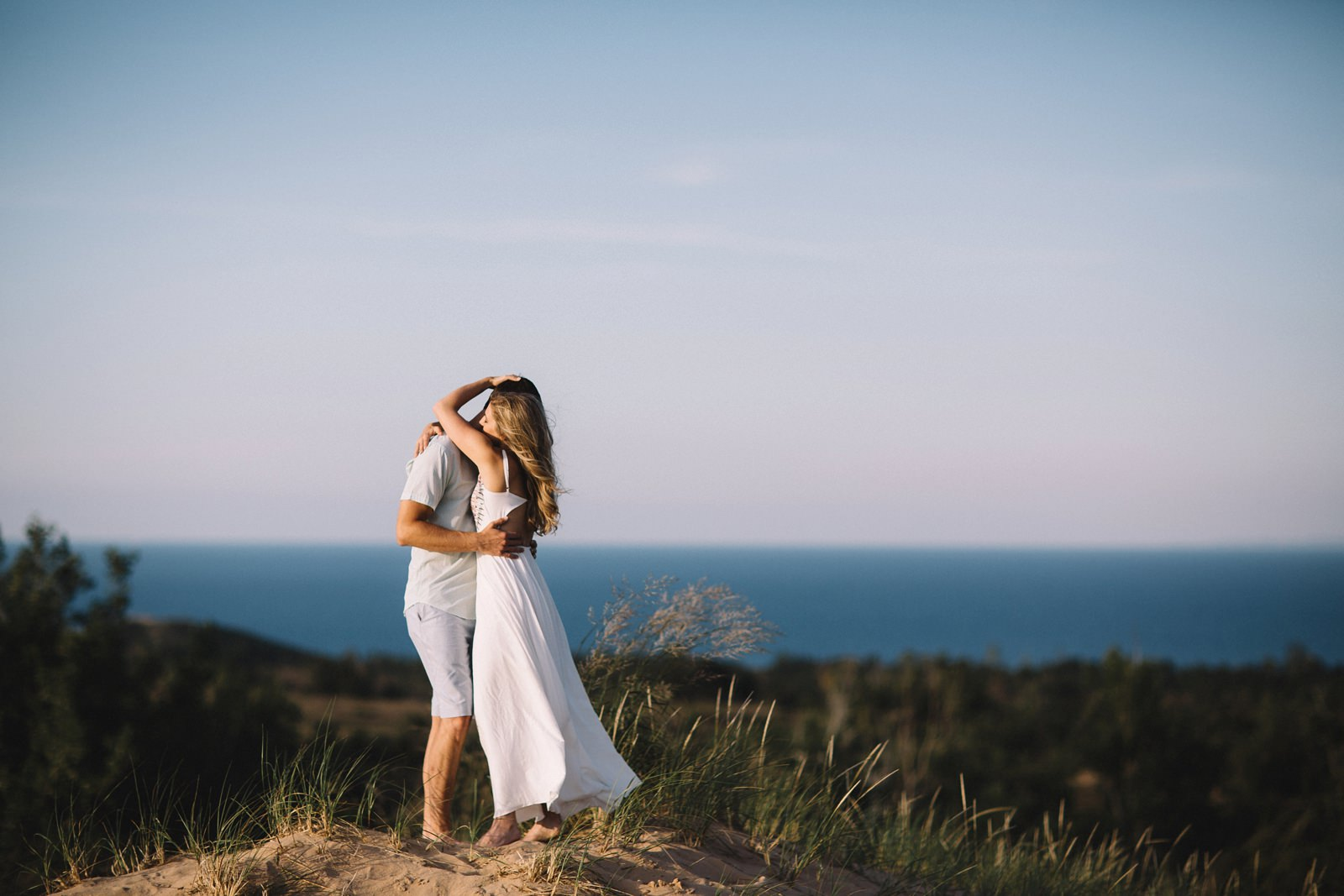 Romantic Engagement on the Dunes | Kris + Dave