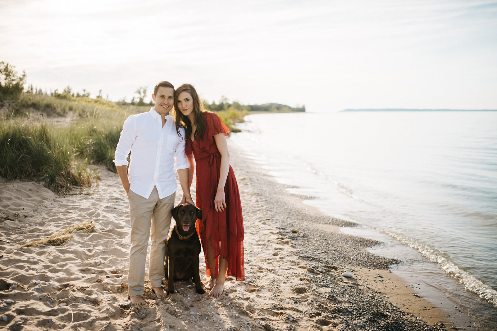Sleeping Bear Point Engagement | Josie + Garett | By Anna