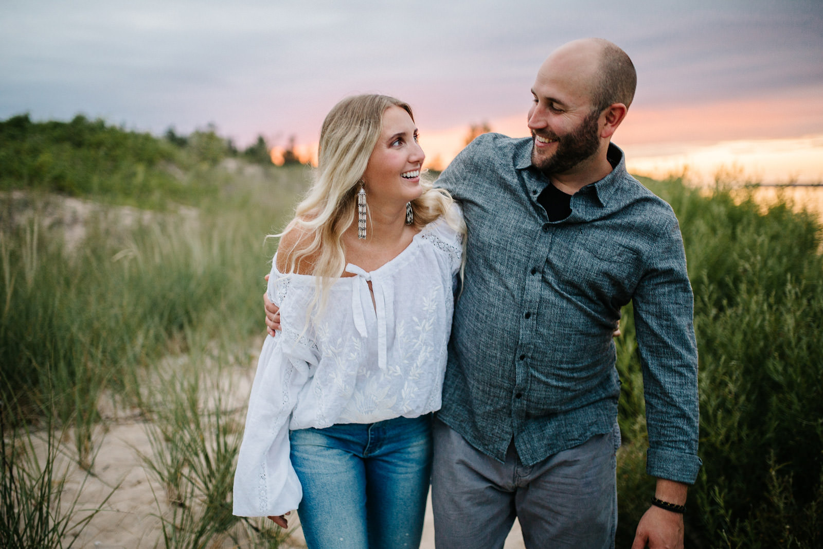 Glen Haven Engagement | Jill + Jake | By Anna