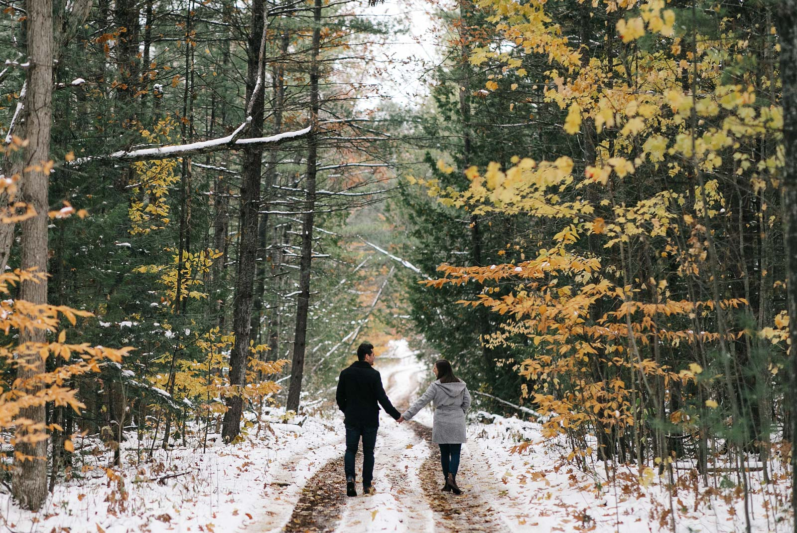 Wintery Wilderness Engagement | Paige + Andrew