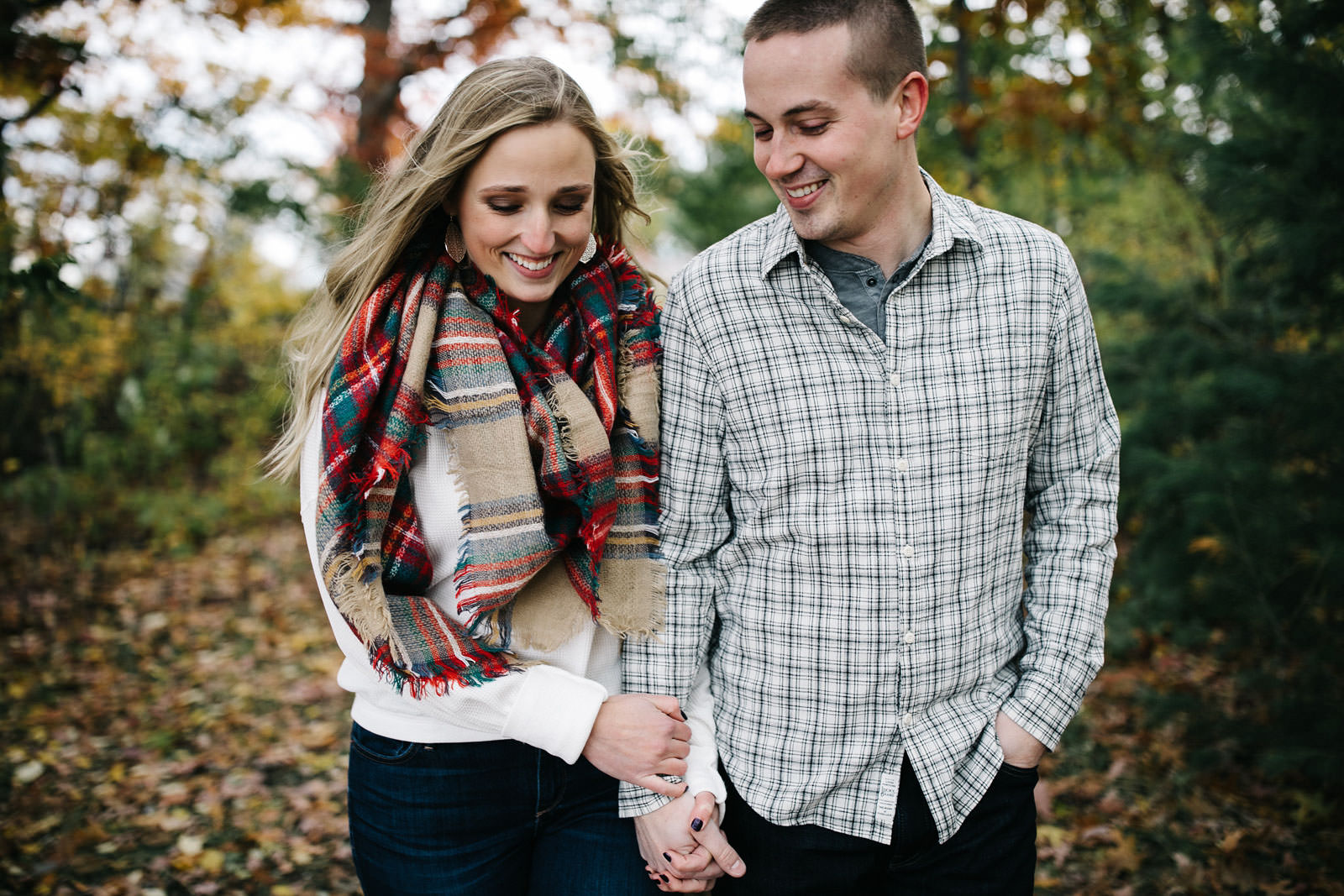 Fall Nature Trail Engagement | Isabel + Cameron