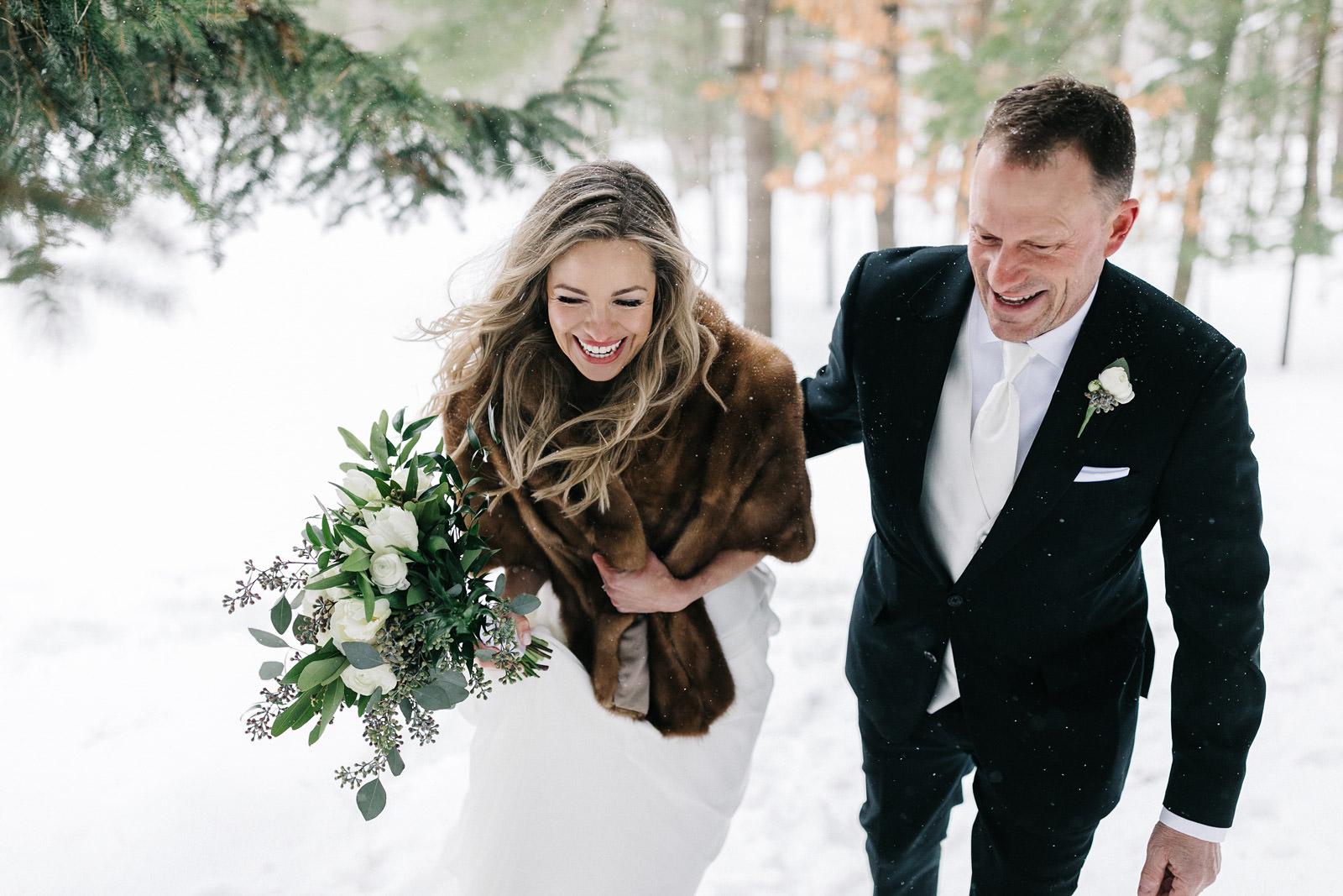 Snowy Historic Barns Park Wedding | Jody + Tony