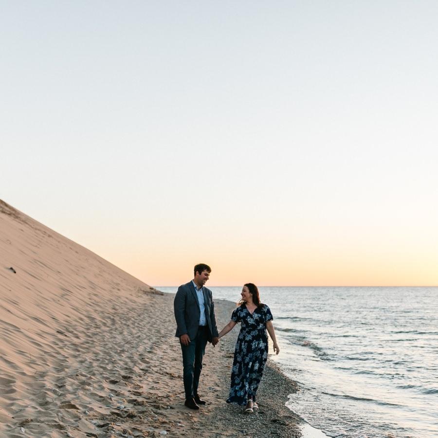 Sleeping Bear Dunes Engagement | Michele + Eugene
