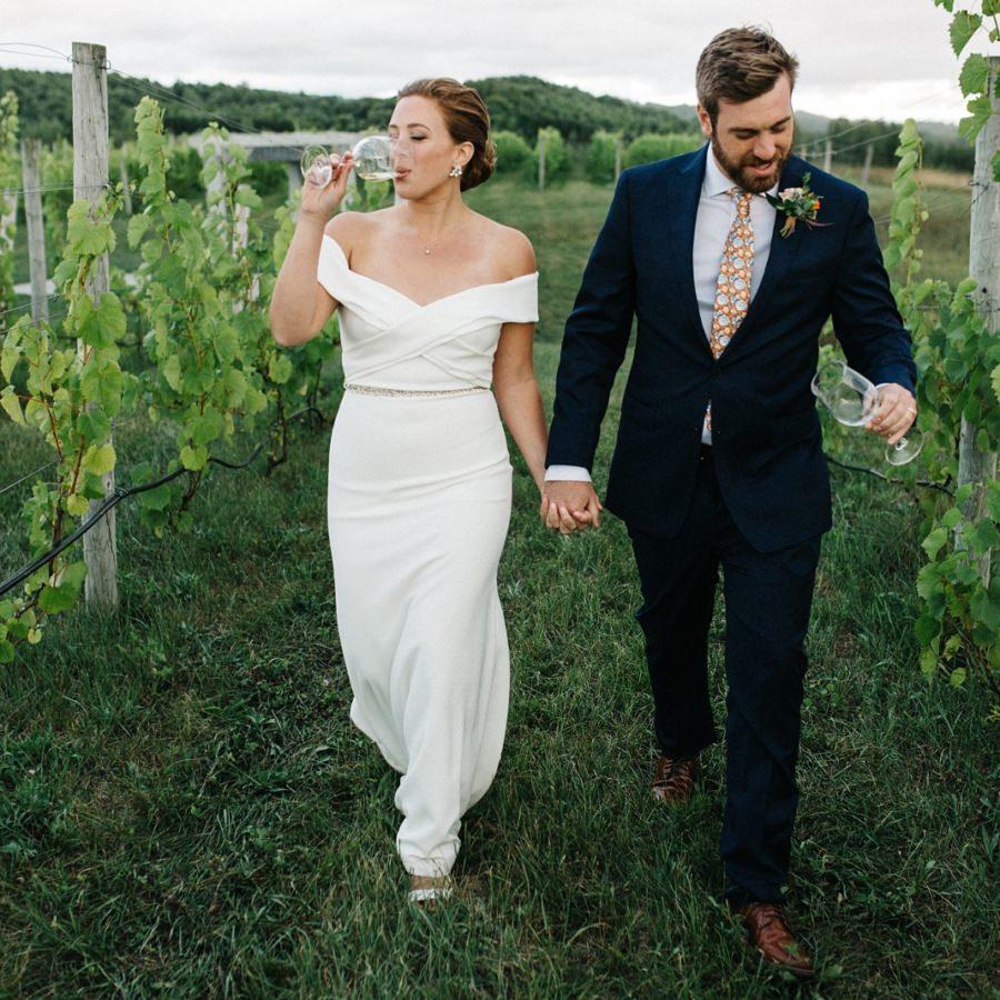 45 North Vineyard + Winery Wedding | Jenna + Ben | By Luke