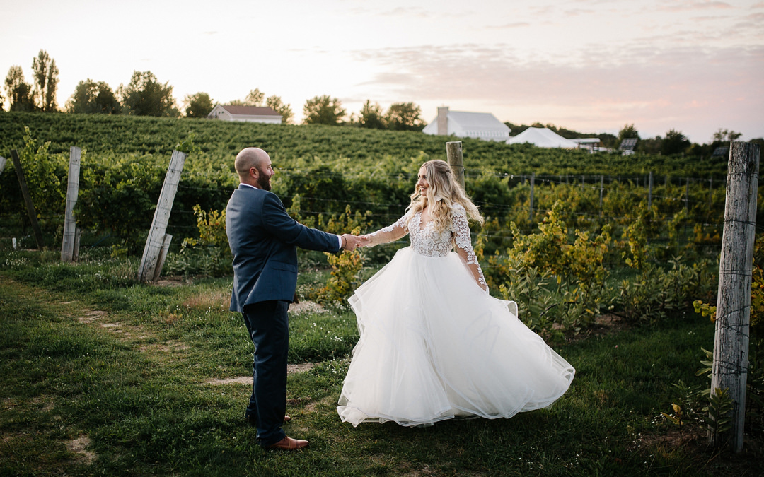 Brengman Brothers Winery Wedding | Jill + Jake | By Anna