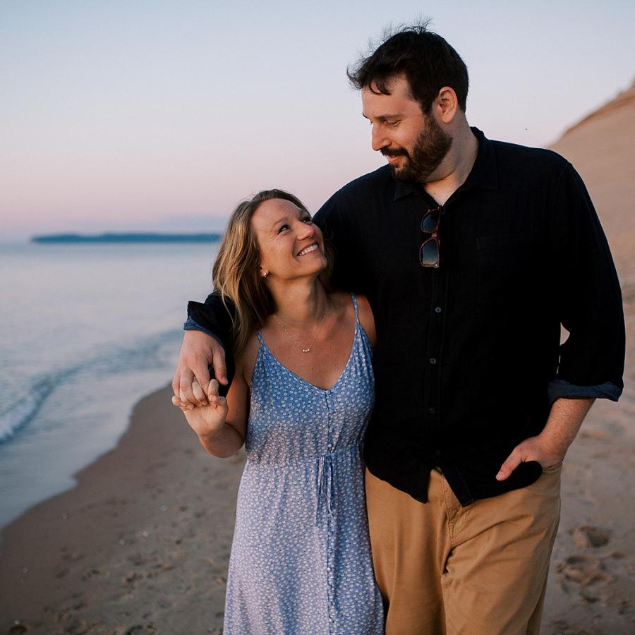 Sleeping Bear Dunes Engagement | Meagan + Derek | By Anna